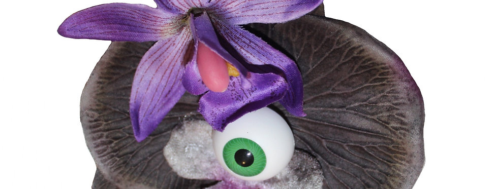 Halloween 'All Seeing' Purple Orchid Hair Flower