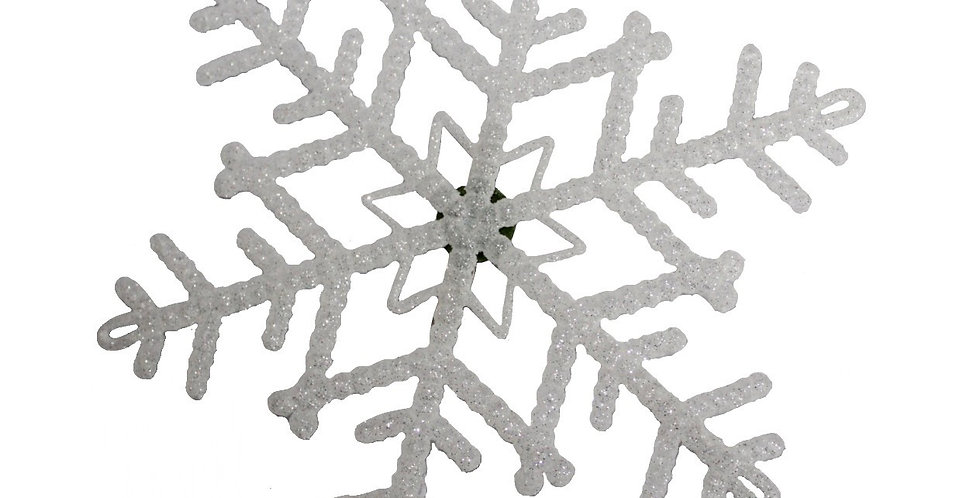 XL White Frosted Snowflake Hairpiece