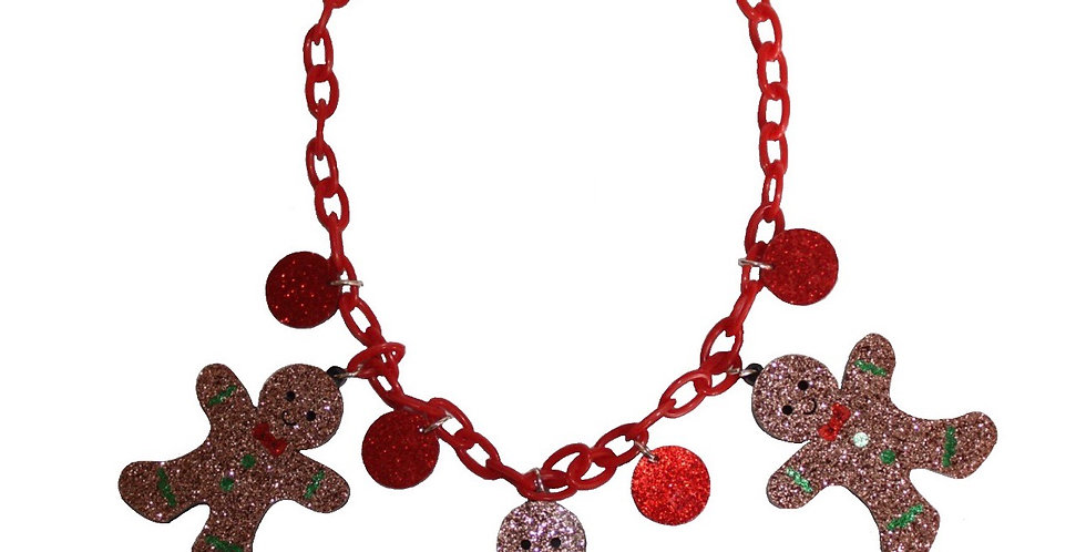 Acrylic Gingerbread Necklace