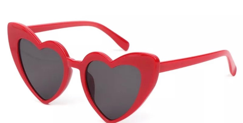 KITTY Heartshaped Sunglasses - Red