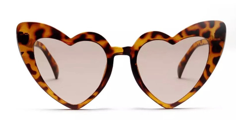 KITTY Heartshaped Sunglasses - Tortoiseshell