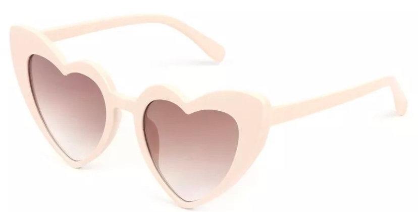 KITTY Heartshaped Sunglasses - Cream