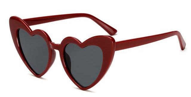 KITTY Heartshaped Sunglasses - Deep Red