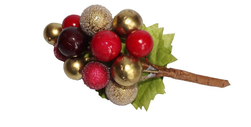 Christmas Berry Hair Piece