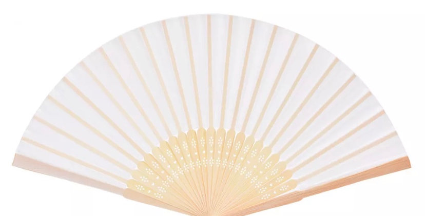 Bamboo Fan - White