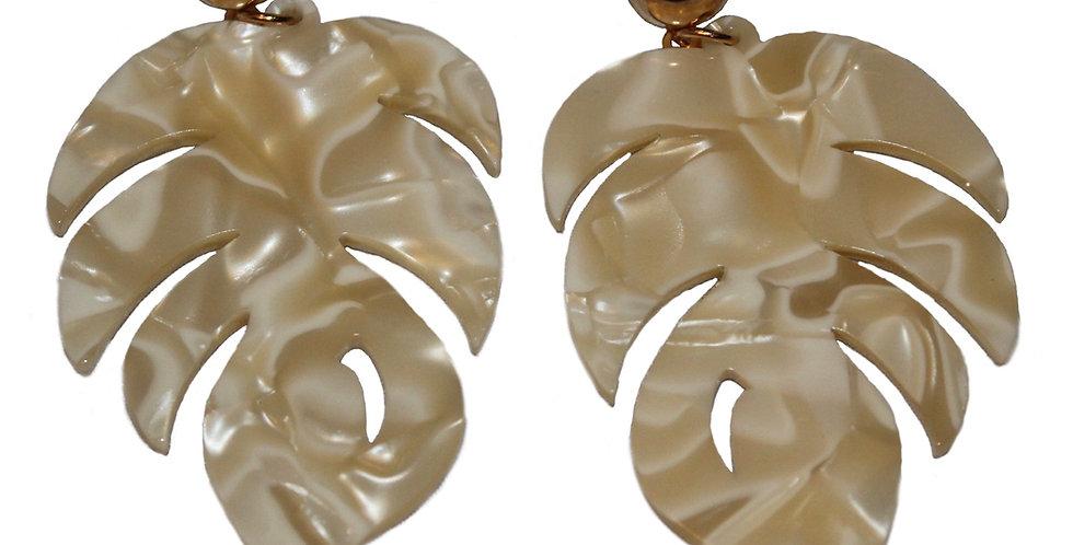 Monstera Leaf Earring