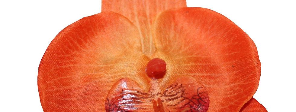 Orange Flat Orchid Hair Flower