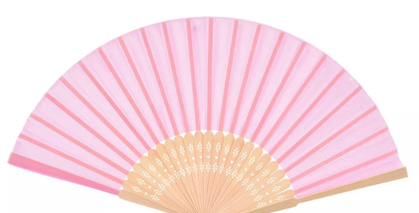 Bamboo Fan - Baby Pink