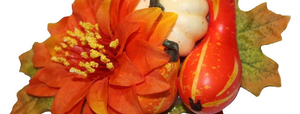 Halloween Autumnal Gourd Hair Flower
