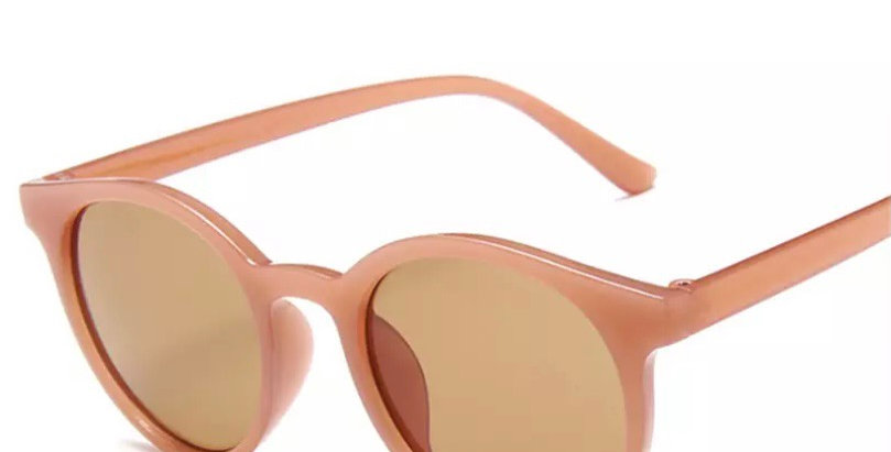 Round Sunglasses - Toffee