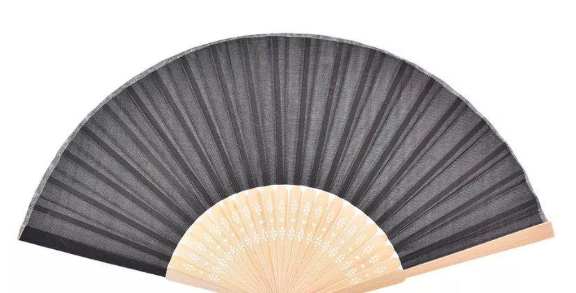 Bamboo Fan - Black