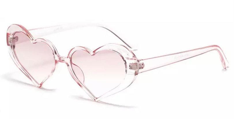 Heartshaped Cats Eye Sunglasses - Baby Pink