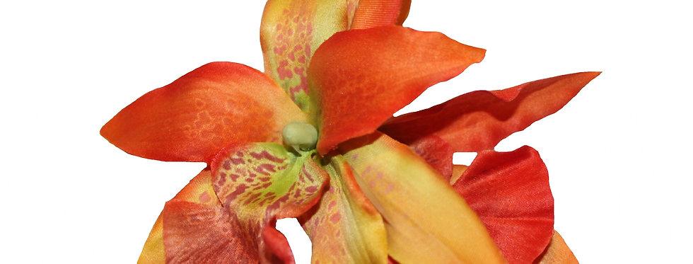 Orange Autumnal Mini Orchid Hair Flower