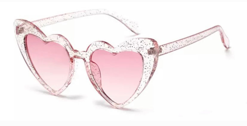 KITTY Heartshaped Sunglasses - Pink Glitter