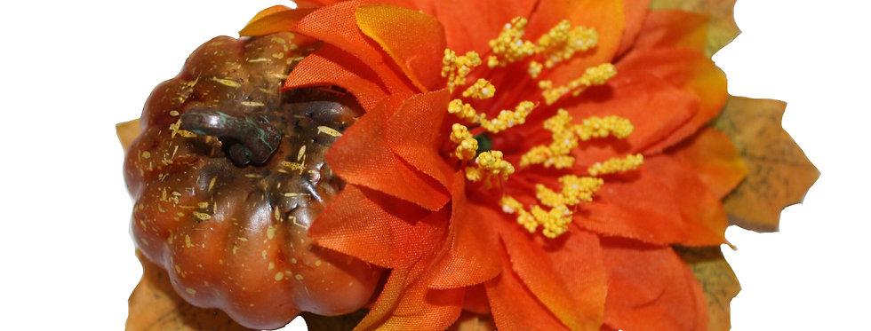 Halloween Autumnal Pumpkin Hair flower