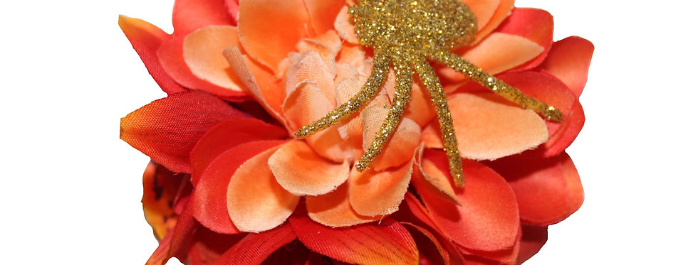 Halloween Gold Spider Hair Flower