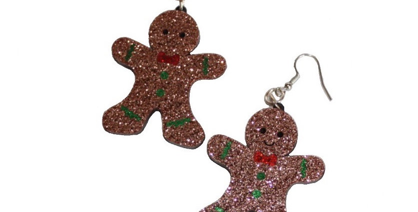 Acrylic Gingerbread Earrings