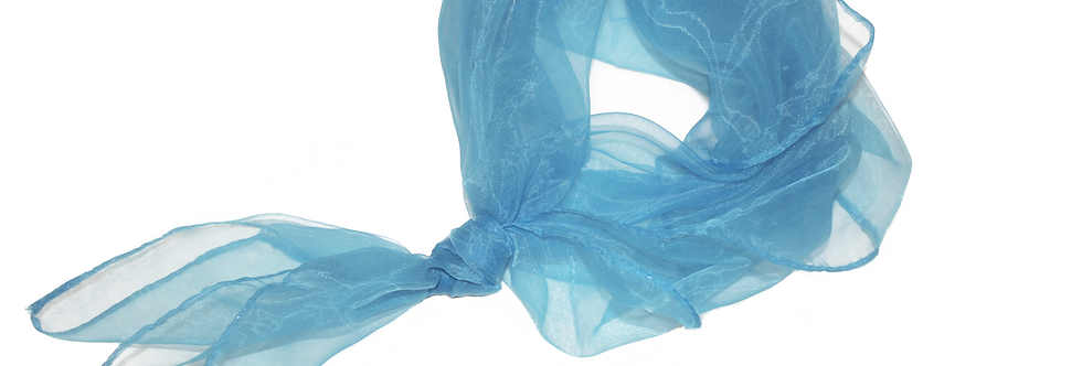 Blue Sheer Square Chiffon Scarf