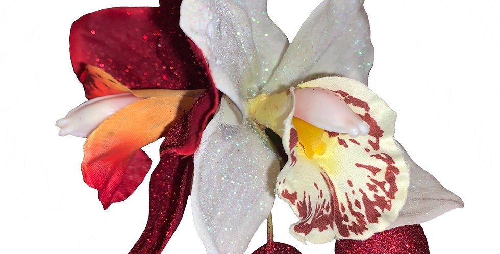 Special Edition Glitter Ginger with Cherries - Red and Iridescent White