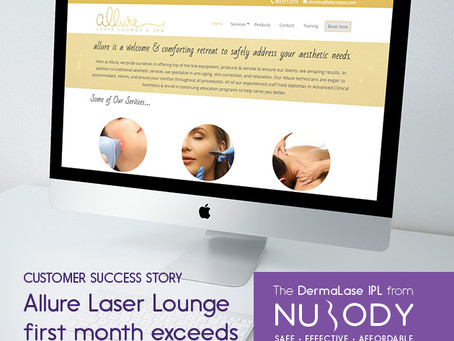 Allure Laser Lounge first month of business exceeds their own expectations!