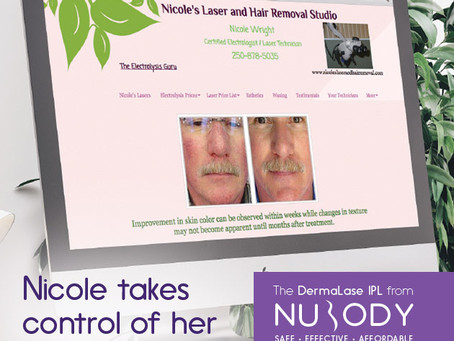 Nicole takes control of her financial destiny with her 'little Dermalase IPL robot'