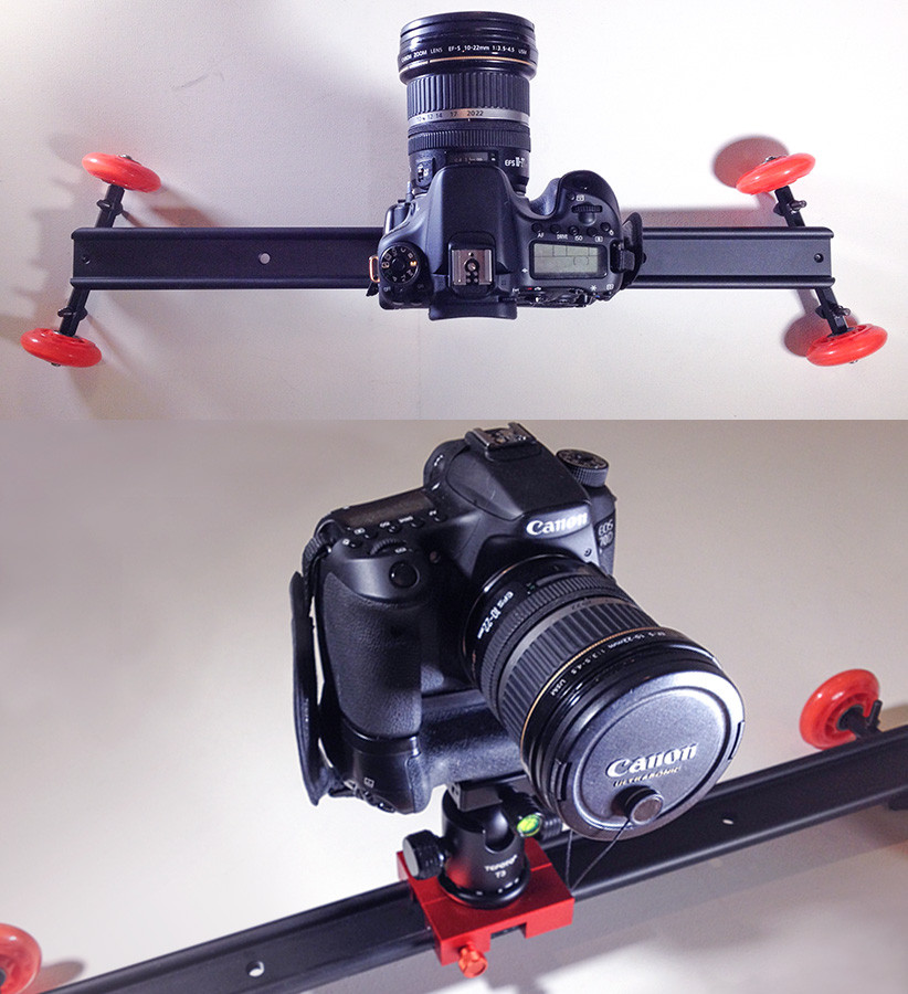 Palbergwerx Neewer slider/dolly and Canon D70 camera