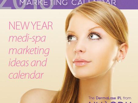2018 New Year medi-spa marketing ideas and calendar