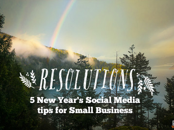 5 New Year's social media tips for business