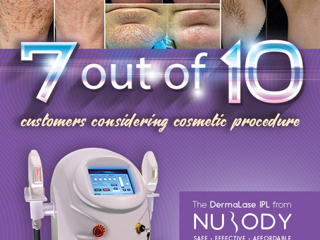 7 out of 10 customers considering cosmetic procedures and, in Canada, hair removal & skin rejuve