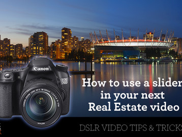 Increase the value of your next Real Estate video by using a slider