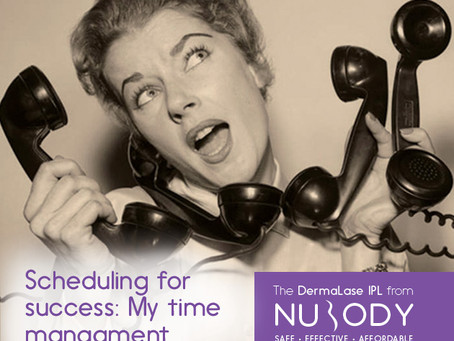 Scheduling for success; My time management secrets