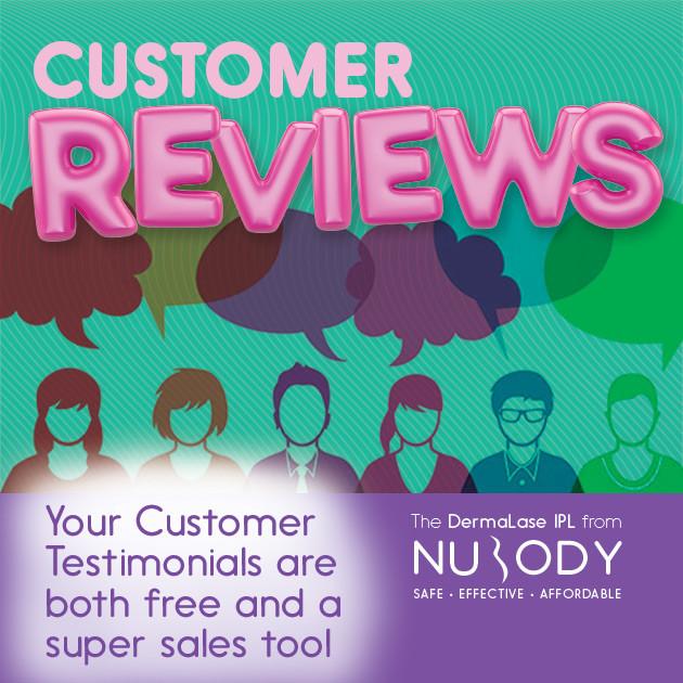 Aesthetic business customer testimonials