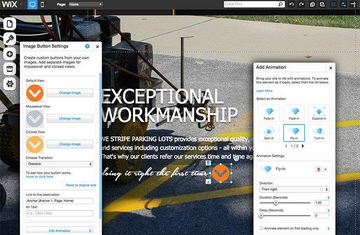 PalbergWERX home page design for we stripe