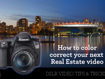 Real estate video color correction made easy