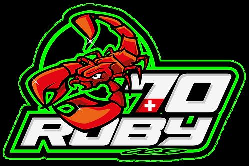 """Sticker """"Roby70"""" (9x6cm)"""