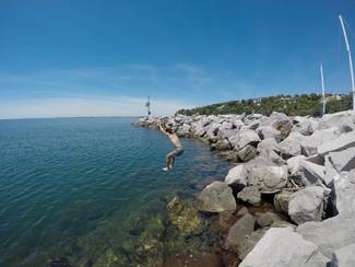 アドリア海を泳ぐ