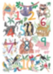 Illustrated Animal Numbers 1-10