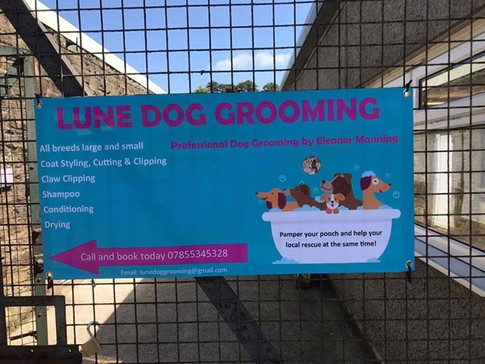 My new signage!! Thank you Animal Care xLUne Dog Grooming