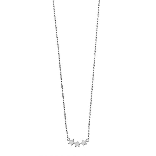 Three Star Necklace 01-Silver Finishing