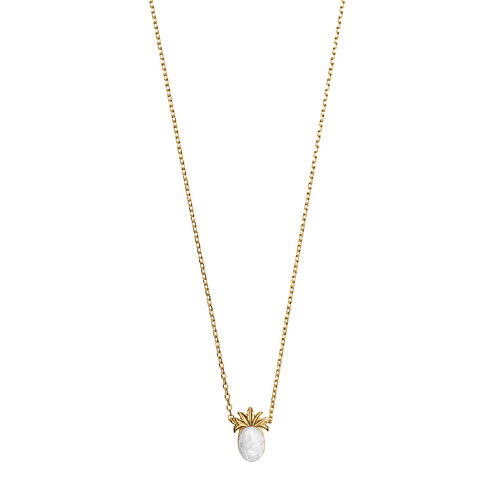3d Pineapple with stone Nl 02-Gold plated