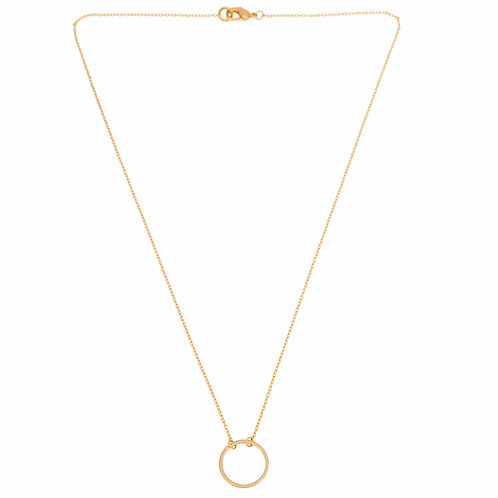 Small circle necklace 02-Gold plated