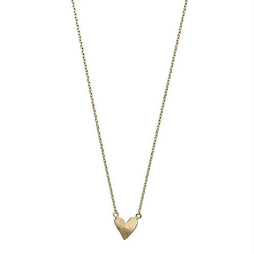 Irregular Heart Necklace 02-Gold plated