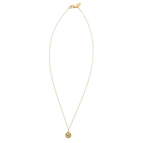 Smile Necklace 02-Gold plated