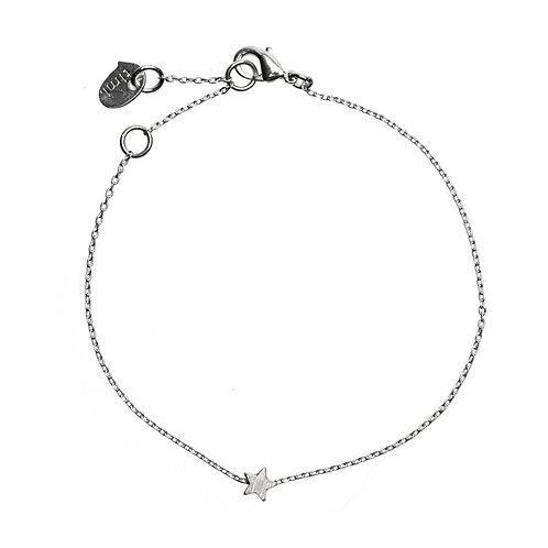 Sliding Star Bracelet 01-Silver Finishing