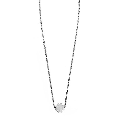 Sliding Clover Necklace 01-Silver Finishing