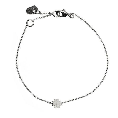 Sliding Clover Bracelet 01-Silver Finishing