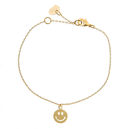 Smile Bracelet 02-Gold plated