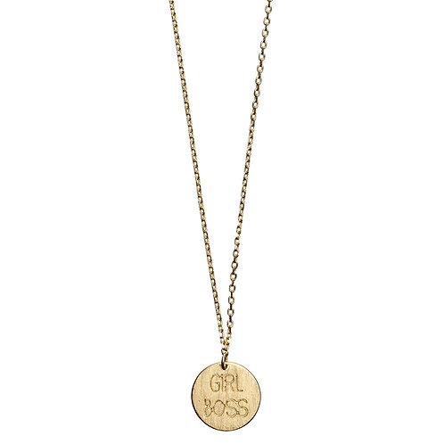 Girl Boss Necklace 02-Gold plated
