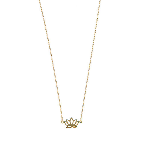 Lotus Necklace 02-Gold plated