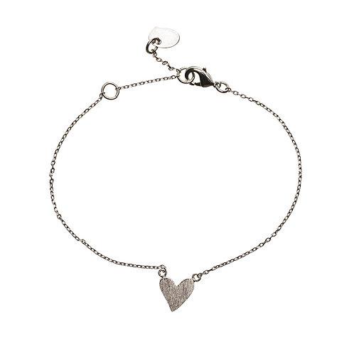 Irregular Heart Bracelet 01-Silver Finishing